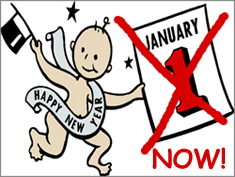 Happy New Year: January 1st Starts Now!