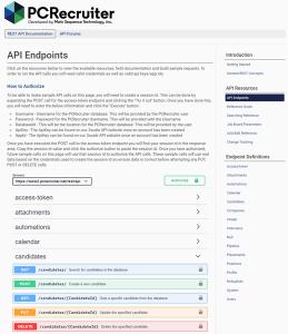 PCRecruiter API Updated